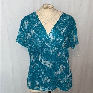 Ladies large Rafaela green/blue top.